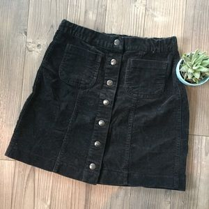 Brandy Melville button up corduroy mini skirt
